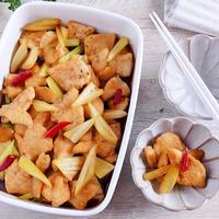 常備菜「鶏むね肉とセロリの南蛮漬け」