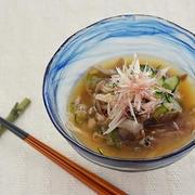 <鮭缶できのこたっぷり、食べる冷汁> by 槙 かおるさん