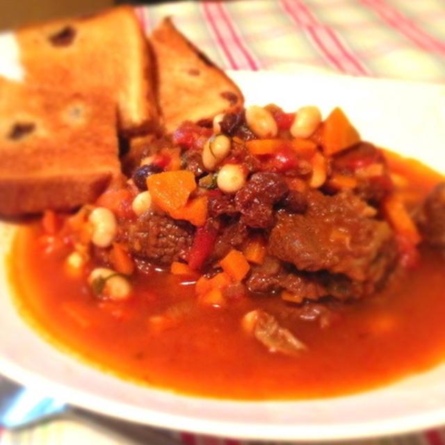牛肉と大豆のコトコト煮込み