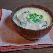 とろみがたまらない牡蠣とエノキのかき玉汁