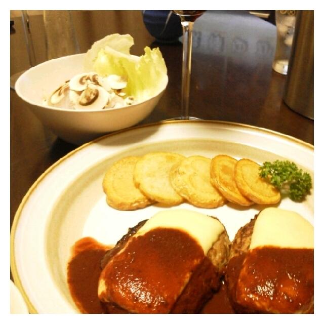 昨日の夕ご飯☆ハンバーグ