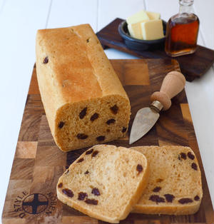 牛乳パックで、ミニレーズン食パン