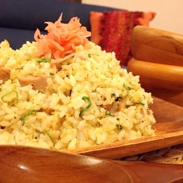魚肉ソーセージチャーハン