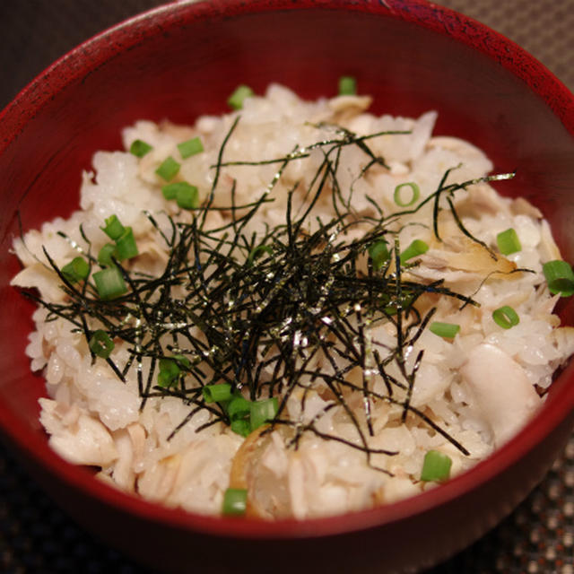 ホッケほぐしご飯 と 鶏肉とにんにくの芽のレモン炒め