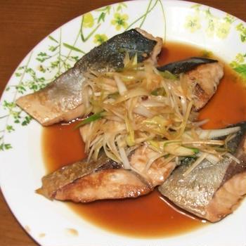 ツバスの照り焼き&がんもどきと高野豆腐の煮物