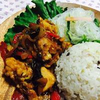 チキンのバジル炒め&25穀米