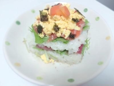 【簡単】サーモンとマグロのデコちらし寿司