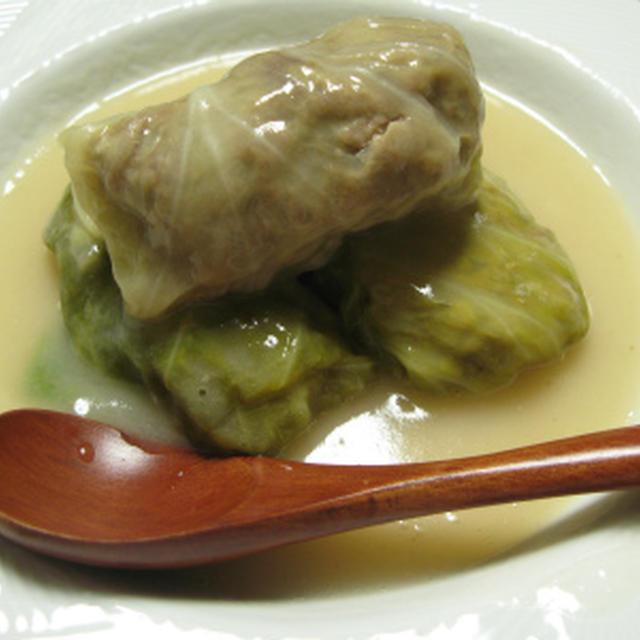ロールキャベツ ガーリック枝豆(レシピ)