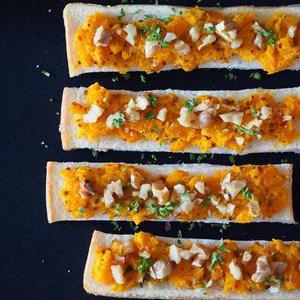 秋色でかわいい♪「かぼちゃトースト」を朝食にいかが?