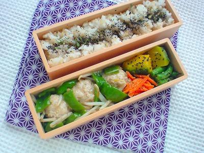 鶏団子と野菜の甘酢あんかけ弁当