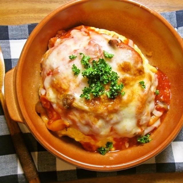 濃厚トマトソースのオムライスグラタン♪《オムライスレシピコンテスト》