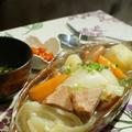 【晩ご飯は 簡単ポトフで 翌日はリメイク餅入りで^^】【1月28日のお月さま】 by あきさん