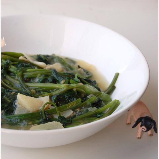 クウシンサイのガーリック炒め(レシピ)とその日の献立&嬉しいつくレポ♪
