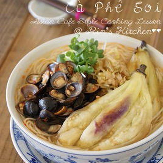しじみと焼きなすのピリ辛味噌にゅうめん☆Recipe