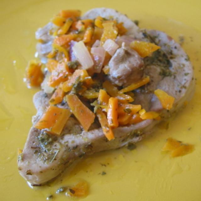 タッキーノ con  野菜ソースがけ