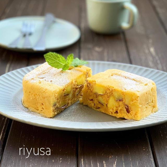 【レンジで簡単調理】ゴロゴロさつま芋ケーキ