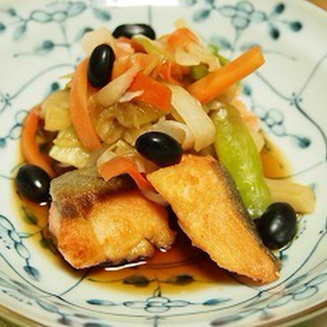 ■レシピ■鮭のくろくろ南蛮漬け風