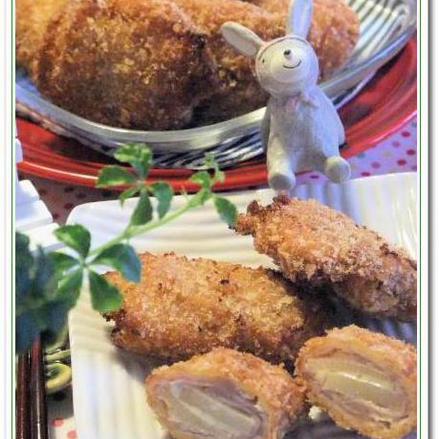 シャキシャキ筍&とろ~りチーズのミルフィーユカツレツ♪
