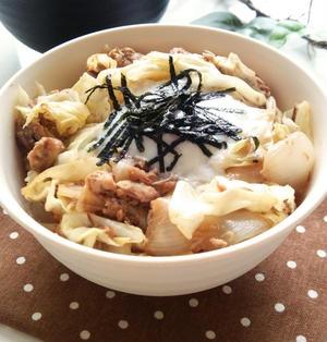 サバ缶で簡単 ☆サバとキャベツの丼