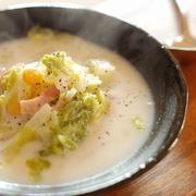 とろける美味しさ♡白菜とコーンのミルクスープ