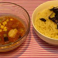 夏野菜たっぷり 冷やしつけ麺♪トマト風