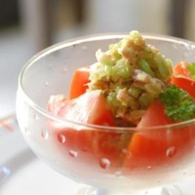 ひんやり♪丸ごと冷やしトマトサラダ