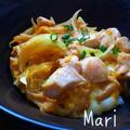 レンジで4分♪ご飯に絡むとろ〜り卵が美味しい♡親子丼 by Mariさん