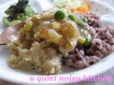 >ねぎ&切干の、もっちりおからサラダ。あんかけ丼仕立て。 by beanpasteさん