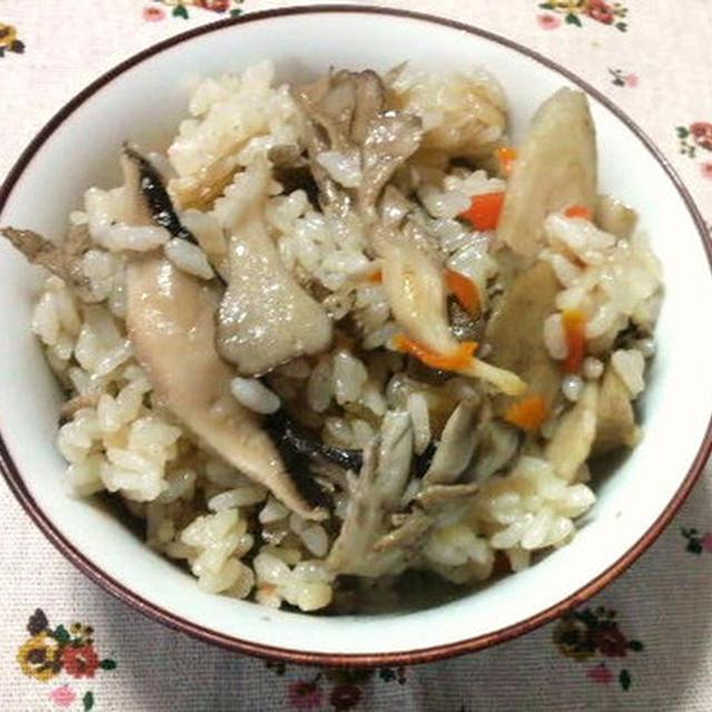 白だしで<舞茸とごぼうの炊き込みご飯><舞茸とごぼうの炊き込みご飯のお弁当>\(~o~)/