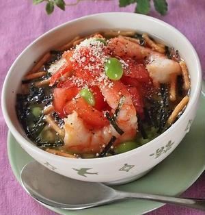 ガーリック醤油トマトのおいsea冷茶づけ