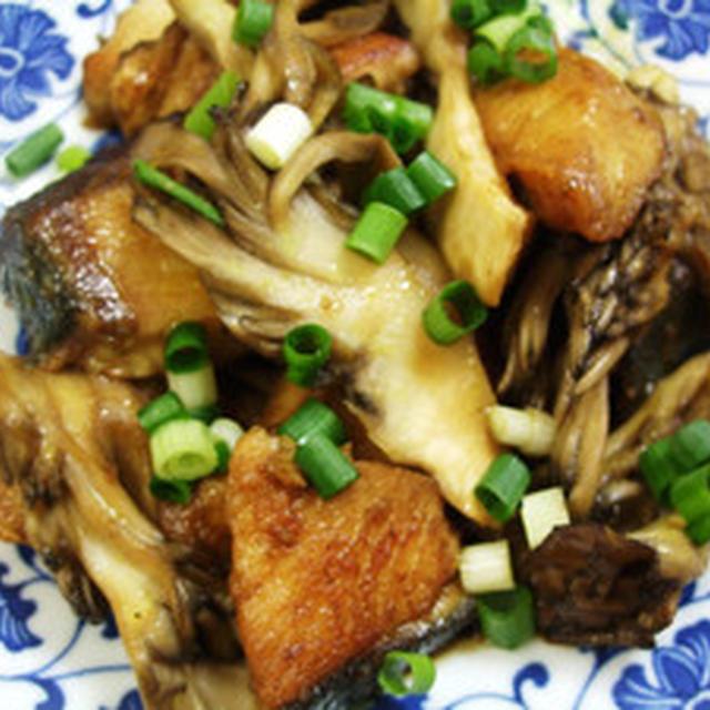 ブリと舞茸のカレー炒め