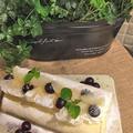ラ・フランスでノンオイルシフォン生地のロールケーキです by pentaさん