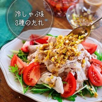 《レシピ》♡おいしい冷しゃぶの作り方&3種のたれ♡【#簡単レシピ #時短 #節約】