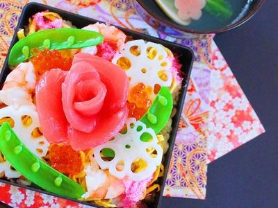 >ちらし寿司 ひな祭りに人気の食事 ケーキ風 レシピ作り方 by 和田 良美さん