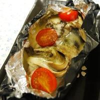 鮭とマイタケのチーズ焼き
