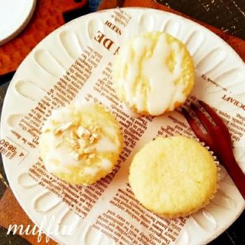 ♡ホットケーキミックスde作る♪ふわもち食感のレモンマフィン♡【#ホワイトデー】