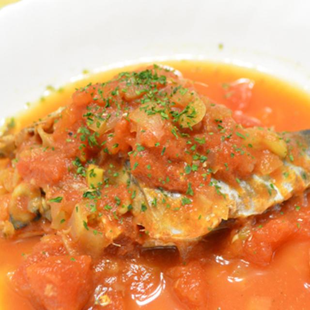 イワシのトマト煮&甘夏のコールスロー