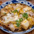 豆腐がメインな「崩し豆腐と豚肉の卵とじ」&薄揚げが半分あったので「簡単ぶっかけそば」