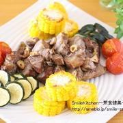 レシピ【スタミナ満点!!豚ロース肉と夏野菜のグリル】&徹子のくだらない話。