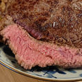 野郎飯流・牛ランプ肉を豪快に焼いたやつと野菜