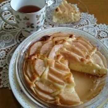 簡単♪おやつラフランスケーキ