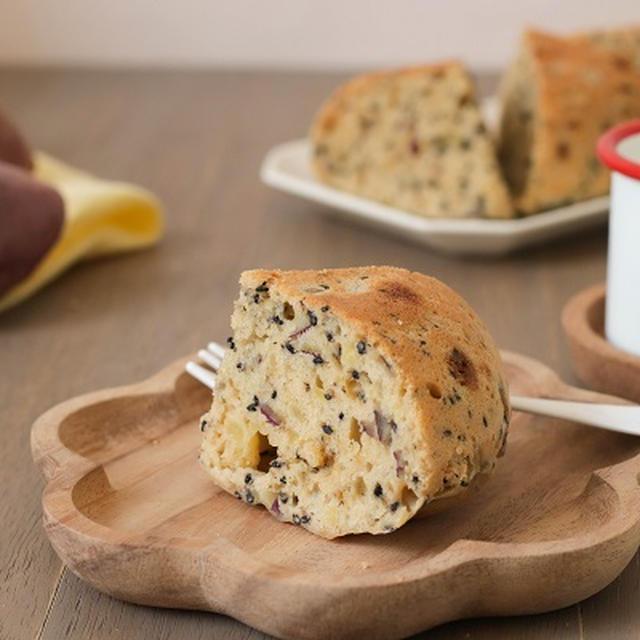 【レシピ】朝ごはんにも♪黒糖とさつまいもの米粉ケーキ
