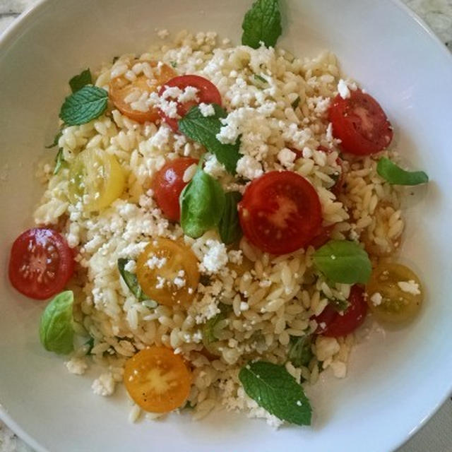 オルゾ/リゾーニのサラダ レシピ IKEAのお皿 FRODIG Side Plate