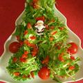 クリスマスツリーのサラダとTHE STARのリダ