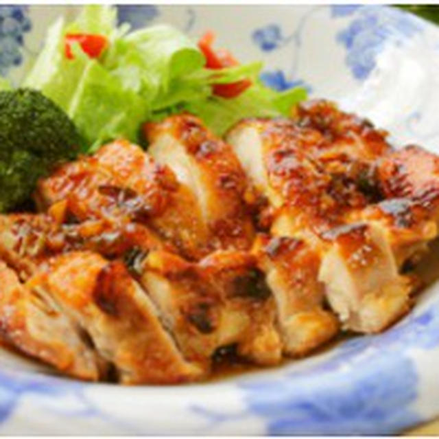 鶏もも肉のねぎソース煮