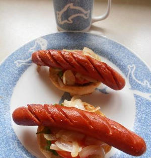 コーヒーに合う朝食 朝マック風 イングリッシュマフィンとフランクフルト