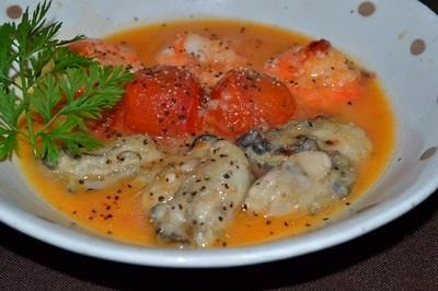 美肌に~♪牡蠣のサフラン煮