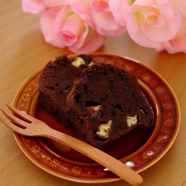完熟バナナの簡単チョコレートパウンドケーキ(バレンタイン・毎日のおやつやティータイムに)