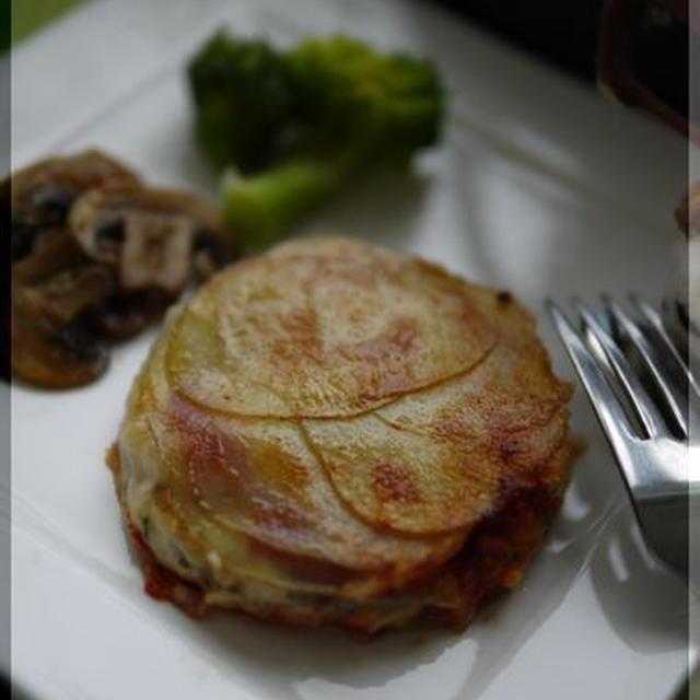 ローズマリー香る 鱈とじゃがいもの重ね焼き