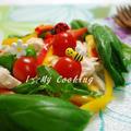 鶏とバジルのゆずドレマリアージュサラダ by snowさん